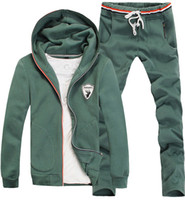 design new tracksuits - New arrivals men winter hoodis suit embroidery design men sport set tracksuits C9186