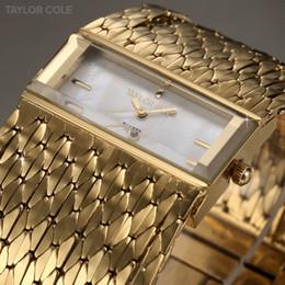 Wholesale Cole Fashion Gold Brass Tassel Strap Women Dress Watches Quartz Analog Female Clock Lady Casual Bracelet Watch TC040