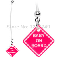 belly board - hot sale baby on board pregnant belly ring belly button ring body jewelry