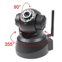best wireless web camera - Best Price New Black Night Vision IR Webcam Web CCTV Camera WiFi Wireless IP Camera Pan Tilt Security