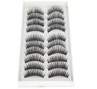 Wholesale TTDeals Pair Reusable Charming Fake Eyelashes False Eyelashes Glue Adhesives Eye Lashes Makeup