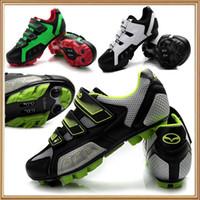 Venta al por mayor de bicicletas-Ciclismo Zapatos para Montaña Racing Athletic zapatos antideslizante hombres zapatos ciclo de zapatos para hombre de las mujeres MTB Ciclismo zapatillas CICLISMO