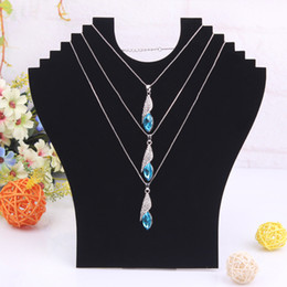 Wholesale Velvet material Humanoid Necklace display board Holder New Necklace Bust Jewelry Pendant Chain Display Holder piece A49