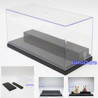 acrylic doll cases - Clear UV Acrylic Plastic Display Box Case Dustproof Tray Protection stpes Showcase Case Fit Figure Doll Dollhouse Translucent
