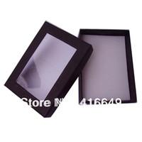 al por mayor collar de la caja de regalo negro-Al por mayor-Hotsales de envío libre de 7cm x 9cm 24pcs / lot del color negro de la joyería del papel se estableció cajas de regalo, .Cheap pendiente / del collar de la caja de empaquetado.