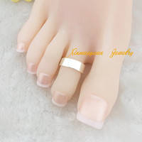 Wholesale silver gold plated fashion plain toe rings body jewelry x21