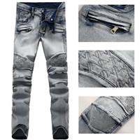acid wash jeans - NWT Paris Men s Fashion Runway Biker Stretch Slim Washed Acid Blue Jeans Size28