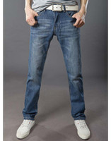 name brand jeans - HOT Sell retro Name Brand Straight light Blue Men s Jeans