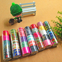 Cheap Wholesale-Free shipping hot sale 20 rolls set of lovely kawaii DIY deco cartoon tape scrapbooking washi adhesive tape paper sticker