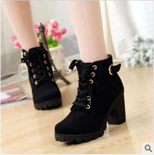 Buy -2015 New Women High-heel Boots,Fashion PU leather boots ladies Motorcycle pumps,shoes women,drop Shipping,XWX367