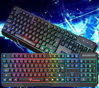 Wholesale teclados gamer gaming usb keyboard wired mechanical lol dota backlight led keyboard for laptops PC