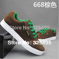 77 - brown blue gray suede men sneakers skate shoes shoelace shoes sapatos masculionos