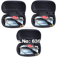 Wholesale PRS Mens Womens Folding Travel Business Reading Glasses for Work Home Holiday with Case Lens Lenses Strengths to