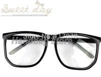 Wholesale New Oversized Tortoise Shell Retro Nerd Geek Black Clear Lens Plain Glasses For Fancy Dress Drop Shipping