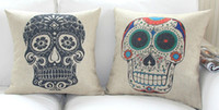 black pillow cases - Retro Black Skull Cotton Linen Pillow Case Hold Cushion Cover Waist Pillowcase DECORATIVE PILLOW quot