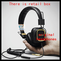 Cheap Wholesale-Marshall Major With Microphone &Remote 50 fx DJ Pro Stereo limited edition Headphone With gold color New&genuine free