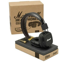 Cheap Wholesale-New&Genuine Marshall Major With Microphone Music Headset On-Ear Hifi Pro Stereo Headphones Earphone In Retail Box Free