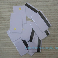 Wholesale New Blank PVC Magnetic Contact IC Card With SLE Chip amp With Hico Magnetic Mag Stripe Smart