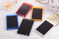 Wholesale Solar Charger Mobile Power Bank mah Backup Bateria Externa Portable Charger Powerbank Carregador Protatil Para Celular