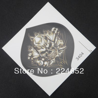Cheap Wholesale-10pcs lot Skull Fire Flames Motorcycle Car Auto Racing Decal Sticker Free Shipping