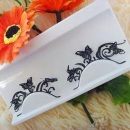Wholesale pair pack Fetching carbon fiber cut black butterfly lace face waterproof artificial false eyelashes