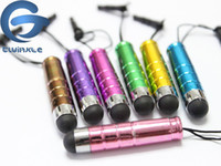 Wholesale Mini Stylus Touch Pen plastic material dust plug touch pen for mobile phone tablet PC For iphone s c s i9600