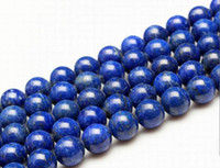semi precious stone beads - 15 quot Natural no artificially colored Lapis Lazuli Round Beads Semi Precious Stone mm Loose Beads