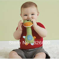 animal toys - New arrival baby toys animal shape baby rattle toys GIRAFFE SAFARI squeeze me rattle