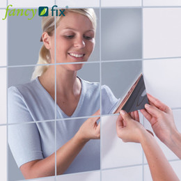 Wholesale Reflective Mirror Like Decorative Wall Stickers Self adhesive Mirror Tiles Stickers