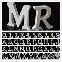 alphabet wall letters - D Wall Sticker Decorations cm High Wooden Number English Letters A to Z Alphabet Birthday Gift Party Shop Decor Letters