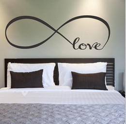 Wholesale Large Infinity Symbol Bedroom Wall Decal Love Bedroom Decor Quotes Vinyl Wall Stickers adesivo de parede A