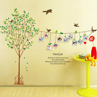 background frames for photos - set Family Photo Frame Tree Wall Stickers For Home Decor amp Green Tree With Photo Sticker For TV Background Finish