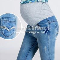100 cotton jeans for women - Elastic Waist Cotton Maternity Jeans Pants For Pregnancy Clothes For Pregnant Women Legging Autumn Winter Plus Size