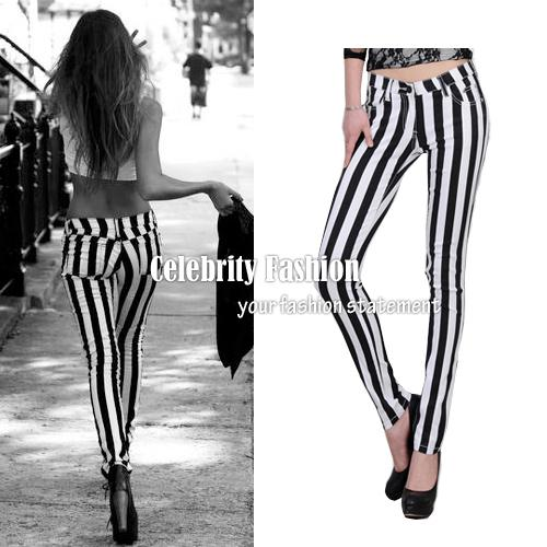 Vertical Striped Skinny Jeans Online | Vertical Striped Skinny ...