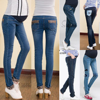 Wholesale New arrival Styles Fashion Elastic Waist Maternity jeans long pants trousers for pregnant women clothing Adjustable leggings