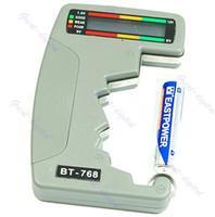 Cheap Wholesale-Free Shipping Digital Battery Tester Checker LED Monitor C D 1.5V 9V