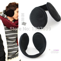 Wholesale-2016 Women Men Winter Ear Warmers Behind the Ear Style Fleece Muffs