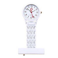 best nurses watch - new fashion Best Brand Vine Silver Stainless Steel Nurses Pocket Quartz Fob Watch White