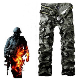 Wholesale-Camouflage Men's Cargo Pants Trousers Cotton Outdoor Casual Harem Baggy Overall Hip Hop