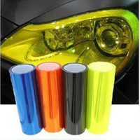 Wholesale quot x quot Black Motorcycle Tint Headlight Head Fog Light Vinyl Smoke Film stickers