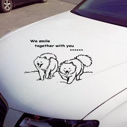 Wholesale Gros Samoyède animaux de chien autocollants de voiture Stickers muraux décalque de vinyle autocollant pour décorer voiture et moto