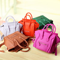 Cheap Wholesale-12 colors hot sale small bags for women leather wallet and handbag 2015 fashion celebrity designer brand smiley bags 044