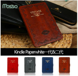 Wholesale-Amazone kindle paperwhite case , Korea brand cover for kindle with good packing with Screen protector