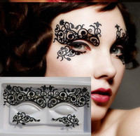 Wholesale hot theater art fashion makeup asseries eye liner paper cut stickers false eyelashes pairs Free ship