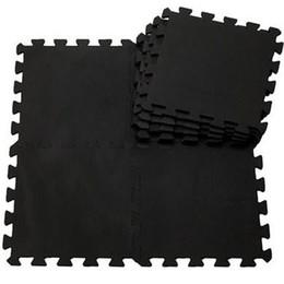 Wholesale baby black EVA Foam Interlocking Exercise Gym Floor play mats Protective Tile Flooring Free combination carpets30 cm