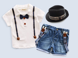 Wholesale-New, retails kids clothes,boys clothes set, girls clothes 1set lot--JYS813 (no hat, with belt)