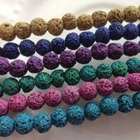 Wholesale Min order Strand Pack mm Natural Lava Stone Bead Loose Strand Jewelry Beads Accessories Findings