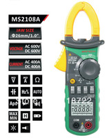 Cheap Wholesale-Free shipping ! MS2108A 4000 AC DC Current Clamp Meter backlight Frq Cap CATIII vs FLUKE hol
