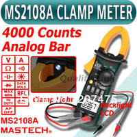 Cheap Wholesale-brand new! MS2108A 4000 AC DC Current Clamp Meter backlight Frq Cap CATIII vs FLUKE hol Free shipping