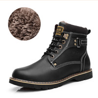 Wholesale Hot Sale Men S Winter Snow Boots Martin Boots Plus Velvet Cottom Fur High Work Boots Steel Toe Tooling Motorcycle Boots
